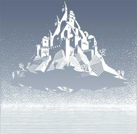 escher. Celestial castle, 1928